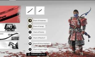 Equip the best charms to turn you into an invincible Samurai