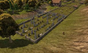 Banished, city-building game, Banished gameplay, Banished cemetery