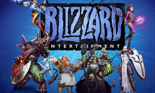 Blizzard Entertainment Logo plus characters
