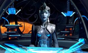 """""""How will you rule the galaxy?"""" """"With blue. Lots of blue."""""""