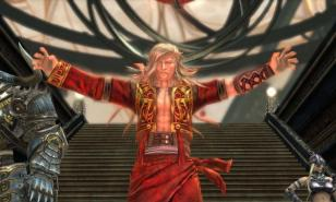 A character from The Last Remnant wearing a bright red outfit.