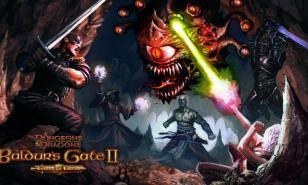 The splash screen for Baldur's Gate II Enhanced Edition
