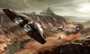 Elite Dangerous planetary landing art