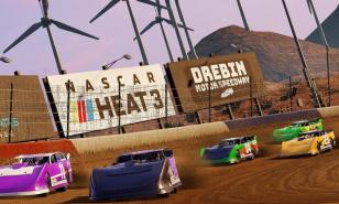 Drebin Speedway is one of the new Dirt tracks in NASCAR Heat 3