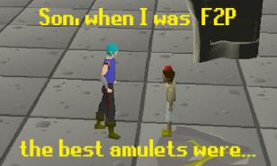 OSRS best F2P Amulets