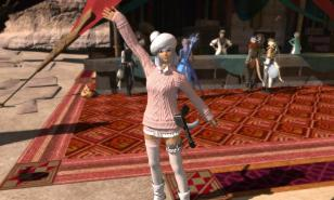 LvL 80 Cat-Girl Crafter Waving Hello