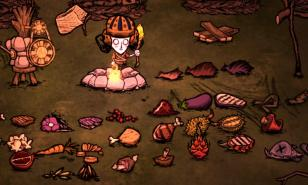 Willow surrounded by food
