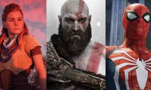 Aloy, Kratos, and Spider-man.