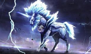 A Kirin charges up his electric attacks