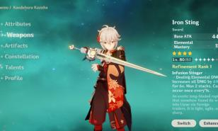 Genshin Impact Best Sub-DPS/ Support Swords