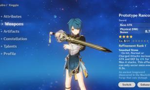 Genshin Impact Best Main DPS Swords