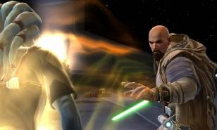 The Consular removes the blight of the Dark side from a Jedi.