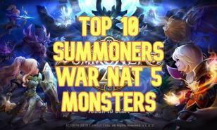 best nat 5s, summoners war, best nat 5 monsters, best monsters summoners war, best nat 5s summoners war