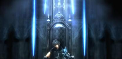 Noctis sitting at his throne.