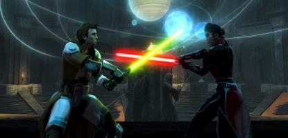 Jedi and Sith clash in an epic confrontation only possible in Star Wars.