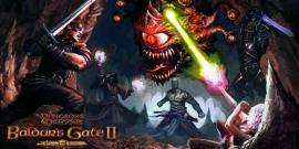 The splash screen for Baldur's Gate II Enhanced Edition