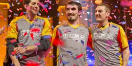 Laval celebrate Heroes of the Dorm victory