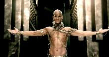I'm pretty sure Xerxes didn't have all these piercings. Or looked like Rodrigo Santoro, but whatever.