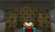 The more bookshelves surrounding your enchanting table, the stronger the enchantments