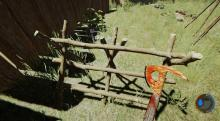 The Plane Axe is one of the best weapons for gathering Sticks in The Forest.