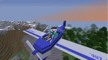 You may be cool, but you're not Steve from Minecraft piloting a plane in 3D glasses cool