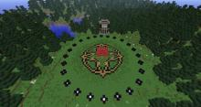Minecraft meets Hunger Games in this exciting mini game