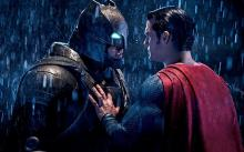 Dawn of Justice between Ben Affleck and Henry Cavill.