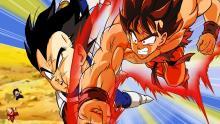 Goku taking on Vegeta