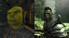 Side by side comparison of Oblivion's Orcs and Skyrim's Orcs.