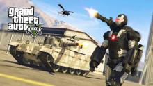 All the mayhem of GTA: 5 is more fun with a high-tech suit of armor on!
