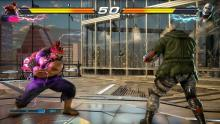 Street Fighter enigma Akuma prepares to drop some poke game on his opponent, Bryan.