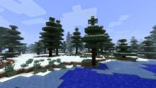 A beautiful screenshot of a snowy tiaga biome