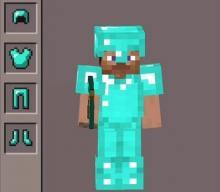 Steve wearing aa full armour