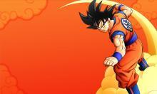 Goku flying a nimbus