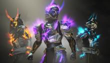 The three glows for the Heroes Armor