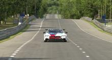 The M8 streaking down the long straights of Le Mans.