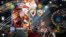 Here we see Rowen pulling out one of the most powerful Dragoncraft cards there is. Fafnir does damage all across the follower board, and to the leader as well. Check out Primal Flames today!