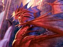 The dragon leader of the Izzet guild on Ravnica