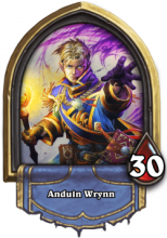 Anduin Wrynn is a little too soft for me, Paladins aren't squishy like Priests are.