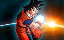 Goku doing Kamehameha over the Earth