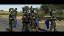These soldier in Arma III could kill with cuteness!