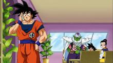 Goku taking a call