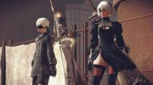 Main characters in Nier: Automata prepare for what's to come.