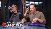 Watch Magic the Gathering Arena being played by Matt Marcer and Sam Reigel of Critical Role fame