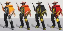 McCree rocking a few different team styles