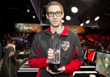 Bjergsen has won numerous awards,  like this one for his performance in Riot's all-star event.