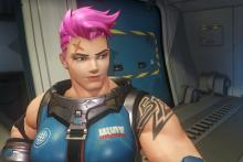 Zarya's pink hair is the best!