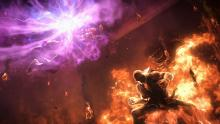 Street Fighter's Akuma and Tekken's Heihachi collide in one final effort.