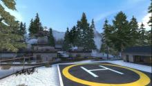 The ruskie map with a helipad