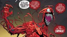 Cletus Kasady is a psychopath with venom-like symbiote that makes him one of the most powerful and bloodthirsty villains in the spiderman series.